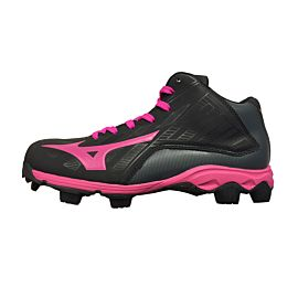 Mizuno 9 Spike Franchise 8 MID 11GP168264 korfbalschoenen junior black electric