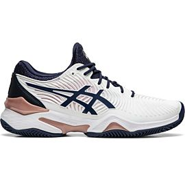 ASICS Court FF Clay 1042A075 tennisschoenen dames white peacoat