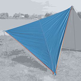 Bent Canvas Plain Set tarp 250 x 250 x 250 hawaiian ocean