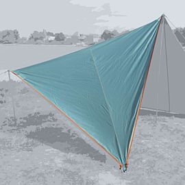 Bent Canvas Plain Set tarp 250 x 250 x 250 ocean wave