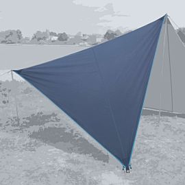 Bent Canvas Plain Set tarp 250 x 250 x 250 sepia blue