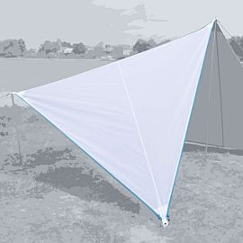 Bent Canvas Plain Set tarp 250 x 250 x 250 white light blue