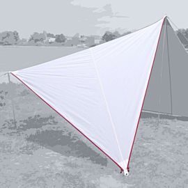Bent Canvas Plain Set tarp 250 x 250 x 250 white red