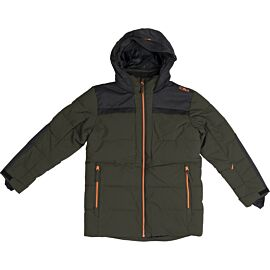 CMP Long Fix Hood winterjas junior oil green