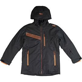 CMP Long Jacket Fix Hood winterjas junior nero