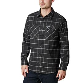 Columbia Outdoor Elements Stretch Flannel overhemd heren shark grid plaid