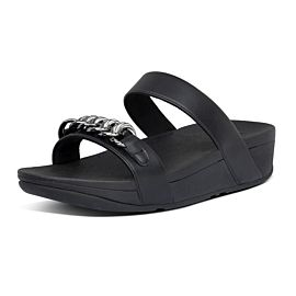 FitFlop Lottie Chain Slides slippers dames all black