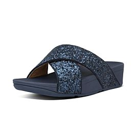 FitFlop Lulu Glitter Slides slippers dames midnight navy
