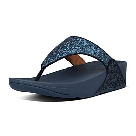 FitFlop Lulu Glitter Toe-Thongs slippers dames midnight navy