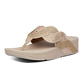 FitFlop Paisley Rope Toe-Thongs slippers dames platino