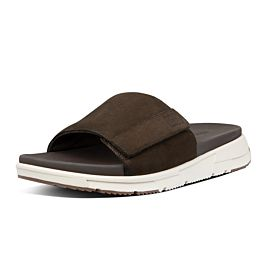 FitFlop Sporty Slides slippers heren chocolate brown