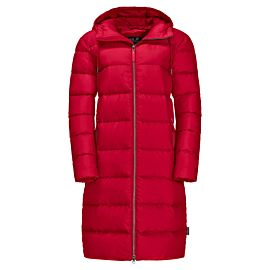 Jack Wolfskin Crystal Palace winterjas dames ruby red