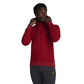 Lyle & Scott OTH Fly Fleece Hoodie trui heren ruby