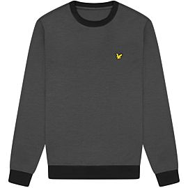 Lyle & Scott Superwick Crew Neck trui true black