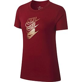 Nike Sportswear Shine shirt dames team red metallic gold