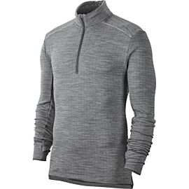 Nike Therma Sphere Element 3.0 hardloopshirt heren iron grey heather grey frog