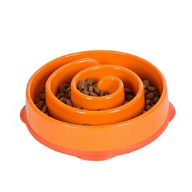 Outward Hound Fun Feeder Slo Bowl Mini voerbak oranje