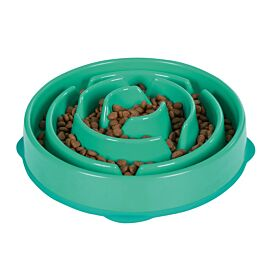 Outward Hound Fun Feeder Slo Bowl voerbak groen