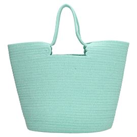 PE Florence Cotton Rope strandtas mint