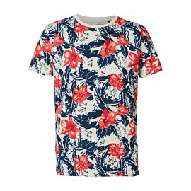 Petrol Industries flower t-shirt heren antique white melee