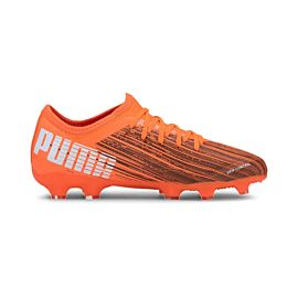 Puma Ultra 3.1 FG AG 106098 voetbalschoenen junior shocking orange puma black
