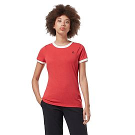 Reebok Linear Logo Tee shirt dames rebel red