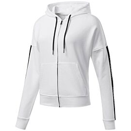 Reebok Training Essentials Linear Logo Hoodie vest dames white