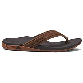 Reef Leather Ortho-Spring slippers heren brown
