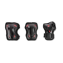 Rollerblade Skate Gear beschermers junior 3-Pack black red