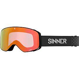 SINNER Olympia skibril matte black orange mirror