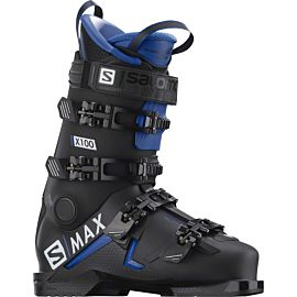 Salomon S Max X 100 skischoenen heren black race blue