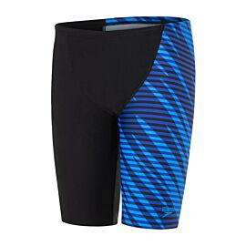 Speedo Allover V Cut Jammer zwembroek junior black