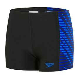 Speedo Allover zwemboxer junior black blue