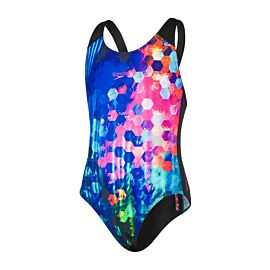 Speedo Placement Digital Splashback badpak junior black blue purple