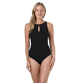 Speedo Vivashine badpak dames black