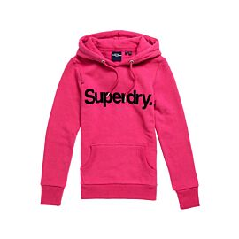 Superdry Core Logo Hoodie dames hot pink