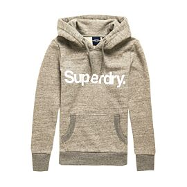Superdry Core Logo Hoodie dames soft grey marl