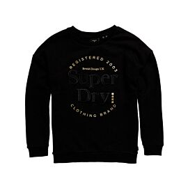 Superdry Established Crew trui dames black