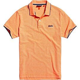 Superdry Poolside Pique polo heren cabana coral grit