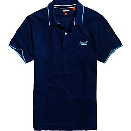 Superdry Poolside Pique polo heren eclipse navy