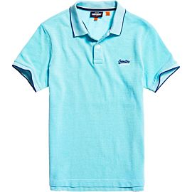 Superdry Poolside Pique polo heren spearmint grit