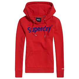 Superdry Registered Flock Entry hoodie dames rouge red