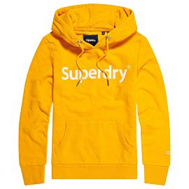 Superdry Registered Flock Entry hoodie dames sporty ochre