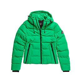 Superdry Spirit Sports Puffer winterjas dames bright green