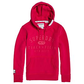 Superdry Track & Field Hoodie trui dames cabaret pink