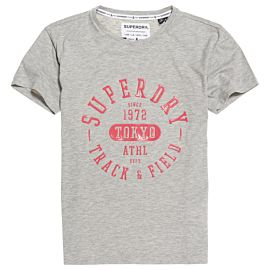 Superdry Track & Field shirt dames mid grey marl