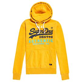 Superdry Vintage Autentic Tri Hoodie trui heren golden yellow