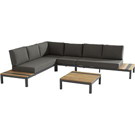 TASTE by 4 Seasons Meridien Large 79 x 79 loungeset antraciet teak