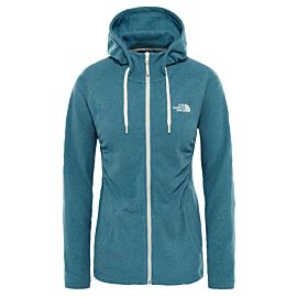 The North Face Mezzaluna fleece vest dames storm blue stripe