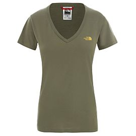 The North Face Simple Dome shirt dames burnt olive green